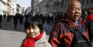MOSCOW, RUSSIA - APRIL 4, 2019: Chinese tourists in Arbat Street. Artyom Geodakyan/TASS  Ðîññèÿ. Ìîñêâà. Òóðèñòû èç Êèòàÿ íà óëèöå Àðáàò. Àðòåì Ãåîäàêÿí/ÒÀÑÑ
