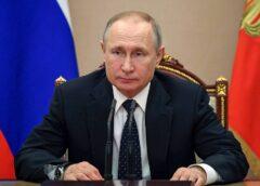 MOSCOW, RUSSIA - MARCH 13, 2020: Russia's President Vladimir Putin chairs a Russian Security Council meeting at the Moscow Kremlin. Alexei Nikolsky/Russian Presidential Press and Information Office/TASS  Ðîññèÿ. Ìîñêâà. Ïðåçèäåíò Ðîññèè Âëàäèìèð Ïóòèí âî âðåìÿ ñîâåùàíèÿ Ñîâåòà áåçîïàñíîñòè ÐÔ â Êðåìëå. Àëåêñåé Íèêîëüñêèé/ïðåññ-ñëóæáà ïðåçèäåíòà ÐÔ/ÒÀÑÑ